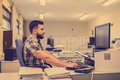 30s Young Hipster Man Style Working Stock Photography - 60364502