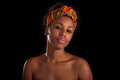 Young Beautiful African Woman, Isolated Over Black Background Stock Photos - 60374793