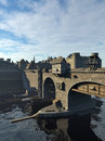 Medieval Bridge And Old Town With Castle Royalty Free Stock Image - 60378196