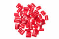 Red Licorice In White Background Royalty Free Stock Images - 60383789