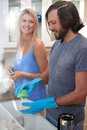 Couple Doing The Dishes Stock Images - 60390644
