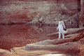 Water On Mars, Futuristic Astronaut Without A Royalty Free Stock Images - 60399889