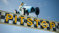 Pit Stop Sign And Text Royalty Free Stock Photography - 60401807