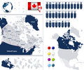 Canada Map And It S States Royalty Free Stock Photography - 60405307