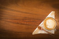 Hot Art Latte Coffee In A Cup On Wooden Table And Coffee Shop Bl Royalty Free Stock Images - 60413659