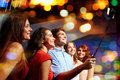 Friends With Smartphone Taking Selfie In Club Stock Photo - 60418310
