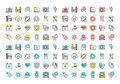 Flat Line Colorful Icons Collection Of Healthcare Services Stock Photography - 60419202