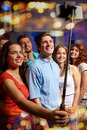 Friends With Smartphone Taking Selfie In Club Royalty Free Stock Photos - 60421218
