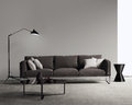 Brown Sofa In A Modern Contemporary Living Room Stock Photography - 60421362