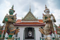 Two Giant Guardians Of Wat Arun Stock Images - 60421484