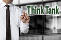Think Tank Is Written By Businessman Background Concept Royalty Free Stock Photography - 60424327