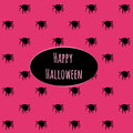 Happy Halloween On A Pink Background With Spiders Royalty Free Stock Photos - 60430338