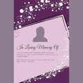 In Loving Memory Of Vector Lettering In Abstract Style, Place For Text And Photo Stock Images - 60433164