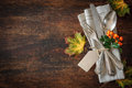 Thanksgiving Autumn Place Setting Stock Photo - 60434560