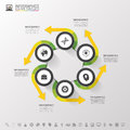 Infographic Design Circles On The Grey Background. Vector Illustration Royalty Free Stock Image - 60434636