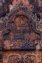 Amazing Pediments In Banteay Srei Royalty Free Stock Image - 60442996