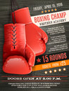 Gloves Boxing Poster Royalty Free Stock Photo - 60445175