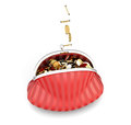 Purse With Falling Coins In It. Conceptual 3D Image. Stock Image - 60449121