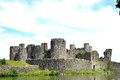 Caerphilly Castle In Wales Royalty Free Stock Photography - 60458467