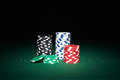 Poker Chips On Table Royalty Free Stock Image - 60461396