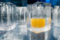 Ice Blocks Glasses In A Ice Hotel Bar Pub Stock Images - 60484694