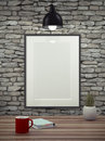 Mock Up Empty Picture Frame. Royalty Free Stock Photos - 60486748