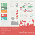 Economy And Industry. Metallurgy Industry. Industrial Infographi Stock Photo - 60488830