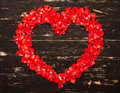 Red Heart From Rose Petals Royalty Free Stock Photography - 60492707