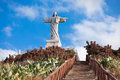 The Christ The King Statue On Madeira Island, Portugal Stock Photos - 60493283