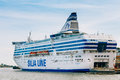 Modern Ferry Boat Silja Line At Pier Awaiting Stock Photos - 60496033