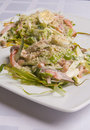 Salad With Ham And Eggs Stock Image - 6051931