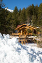Wooden Alpine Chalet In The Mountains Royalty Free Stock Photography - 60502027
