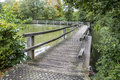 Wooden Bridge  And Rain Drops Stock Image - 60505901
