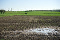 Plowed Field Flooded Royalty Free Stock Photos - 60515358