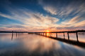 Lake Sunset Royalty Free Stock Photo - 60515655