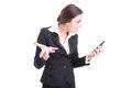 Bossy Female Manager Demanding Explanations Over Video Call Royalty Free Stock Photos - 60527498