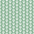Green And White Dog Paw Prints Tile Pattern Repeat Background Royalty Free Stock Image - 60529706