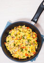 Scrambled Eggs With Mushrooms And Vegetables Royalty Free Stock Images - 60541289
