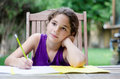 Daydreaming Little Girl Stock Images - 60565484