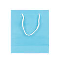 Empty Blue Paper Bag Isolated On White Stock Images - 60567734