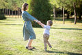 Mom Playing With Son Stock Images - 60573874