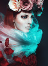 Magic Girl With Roses Stock Photo - 60579840