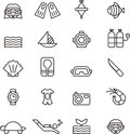 Diving Icon Set Stock Images - 60584574