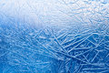 Ice Flowers On The Frozen Window Glass. Pattern And Textured Lines Stock Photography - 60586502