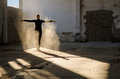Young Modern Dancer Exercising And Dancing In Abandoned Building Royalty Free Stock Image - 60586516