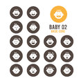 Baby Icons. Baby S Emotional Reaction. Vector Illustration. Royalty Free Stock Photos - 60599858