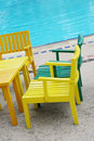 Bright Wooden Chairs Stock Photography - 6061172