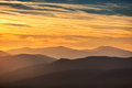 Sunset Over The Mountain Royalty Free Stock Photo - 60617205