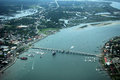 Aerial View St Augustine FL Bridge Of Lions Royalty Free Stock Photos - 60632318