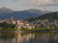 Kastoria Greece. Lake And Clouds. Stock Images - 60635904